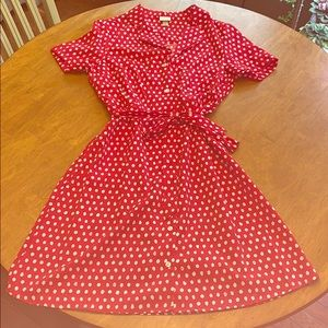 Women's vintage inspired button down dress